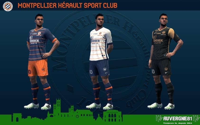 Kits Montpellier 2021-2022 For PES 2013