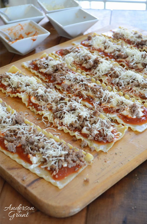 Creating a simple supper....Lasagna Rollups from www.andersonandgrant.com