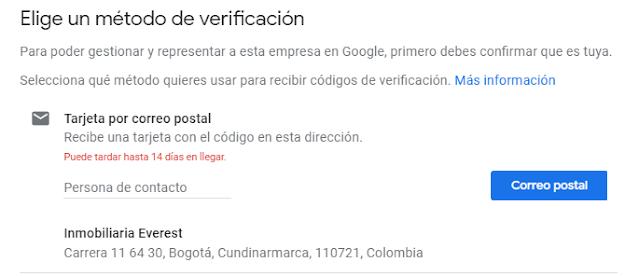 metodos de verificacion en google