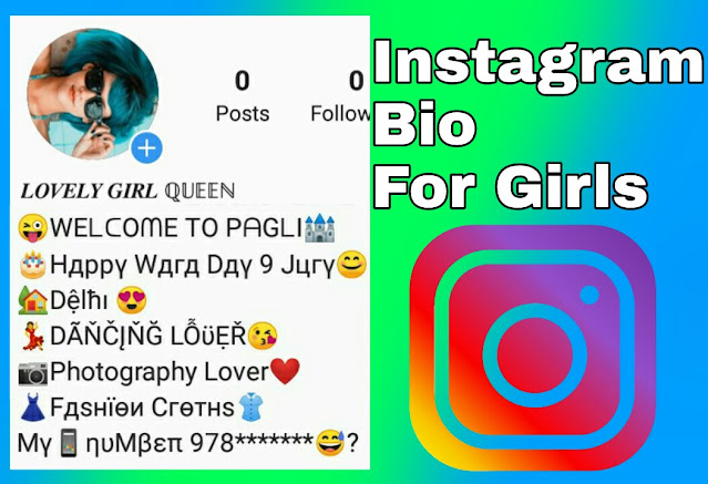 Instagram bio for girls