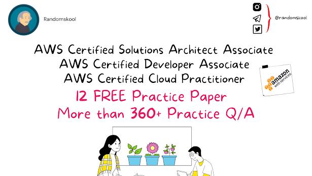 FREE AWS PRACTICE QUESTIONS 👍🏻 | RandomSkool | AWS Certification | AWS CCP | AWS CDA | AWS SAA