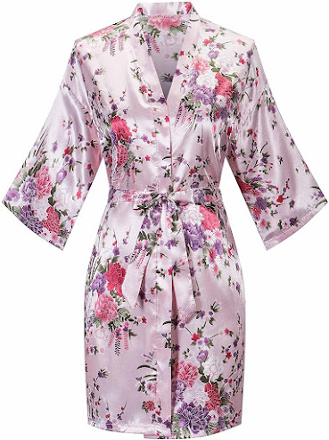 Embroidered Silky Satin Robes For Men and Women