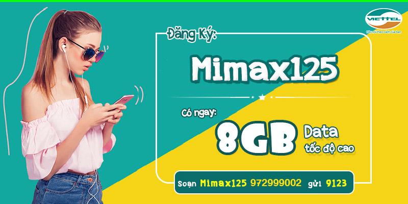 Gói cước 3G/4G MIMAX125 Viettel