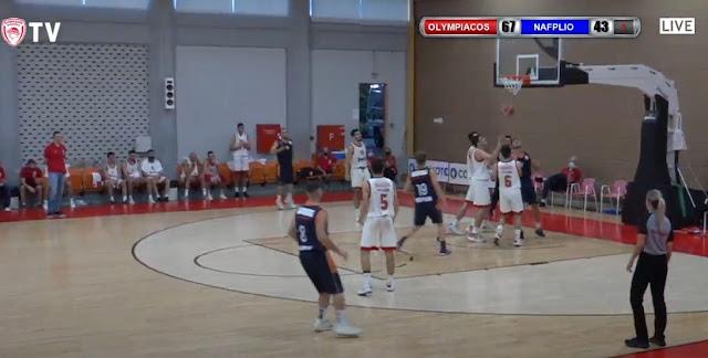 Λύγισε με 94 - 59 από τον Ολυμπιακό Β΄ ο Οίακας Ναυπλίου (βίντεο)