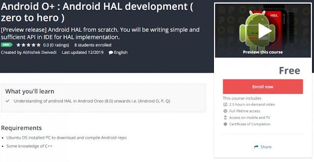[100% Free] Android O+ : Android HAL development ( zero to hero )
