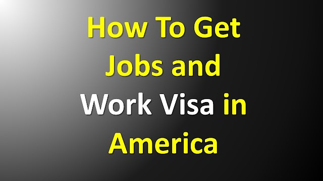 How To Get Jobs and Work Visas in America