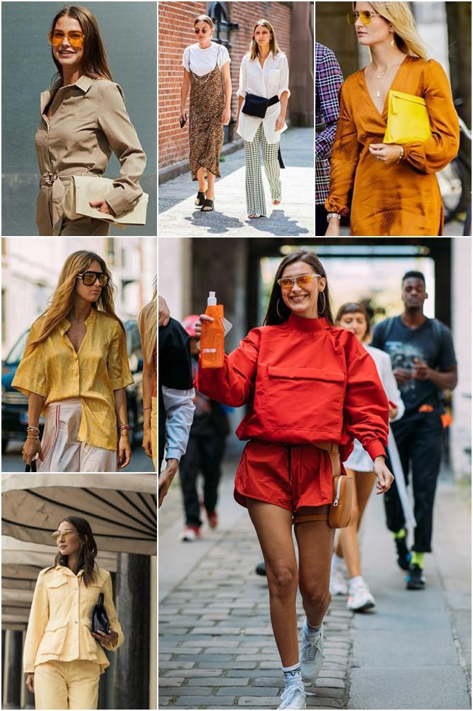 Looks com óculos com lentes amarelas