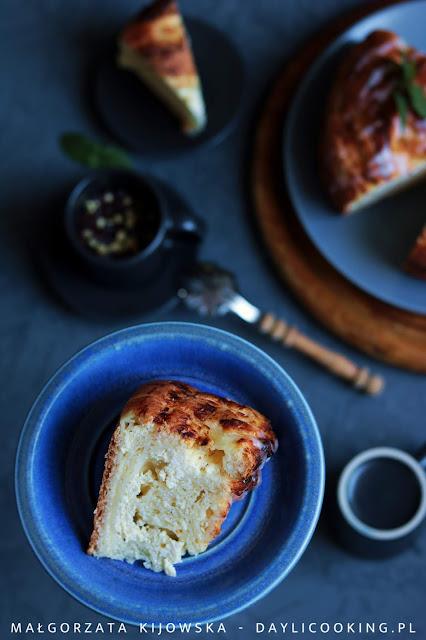 przepis na ciasto drożdżowe z serem, jak zrobić cytrynowy lukier, daylicooking