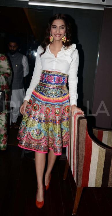 Image result for Sonam kapoor sequin skirt