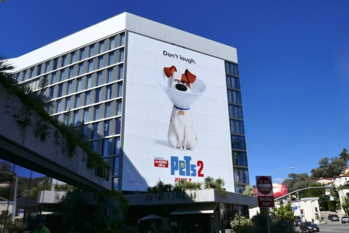 Secret Life of Pets 2 giant billboard