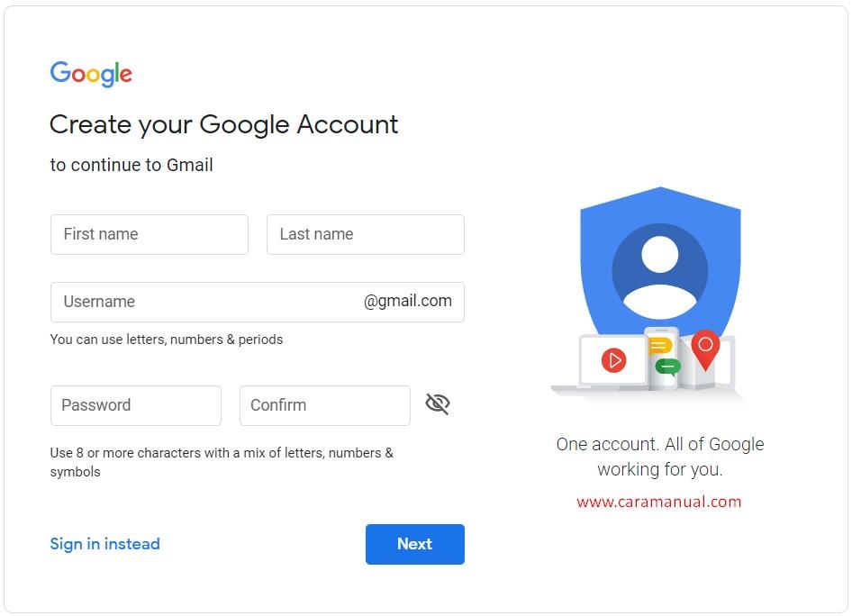 Membuat Akun Gmail Mudah