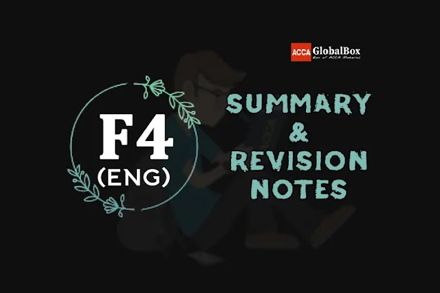 F4 (LW-ENGLISH) | Summary + Revision Notes | Corporate and Business Law | ACCA