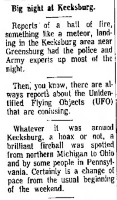 Did you know? There's a UFO Monument in Kecksburg