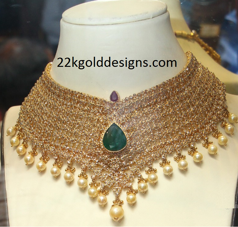 Uncut Diamond Necklace Design
