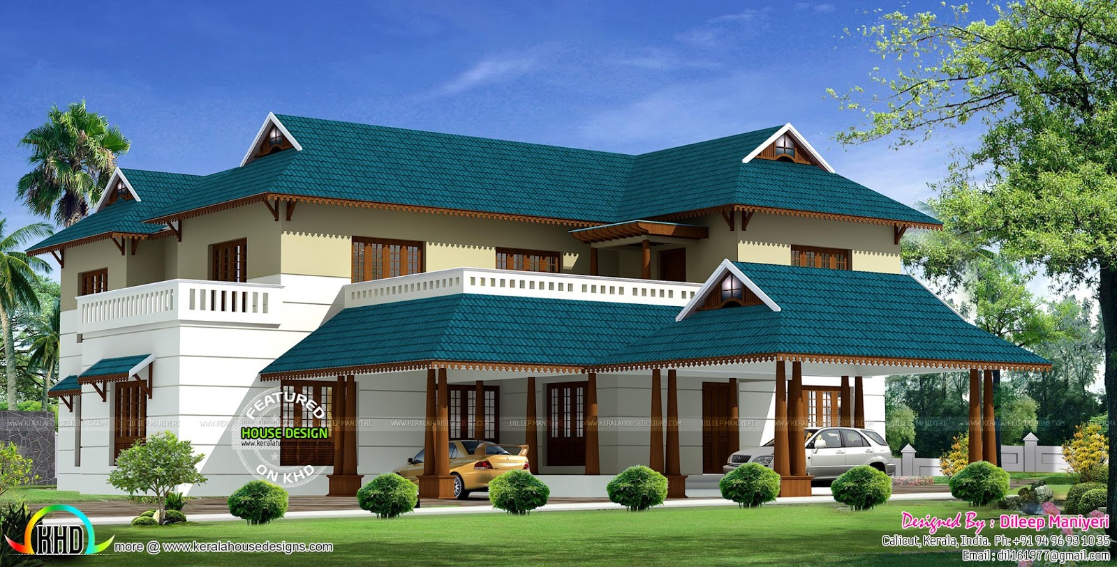405 sq yd traditional kerala home design kerala home for Kerala traditional home plans with photos