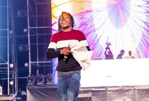 Nairamarley on stage at Abuja concert