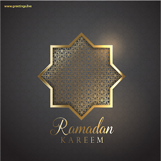 Ramadan Kareem wishes Image in English language