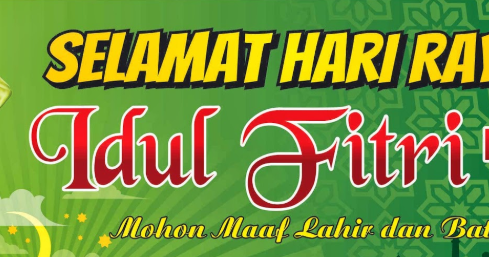 Contoh Banner Baliho Spanduk Kata Ucapan Selamat Hari Raya Idul