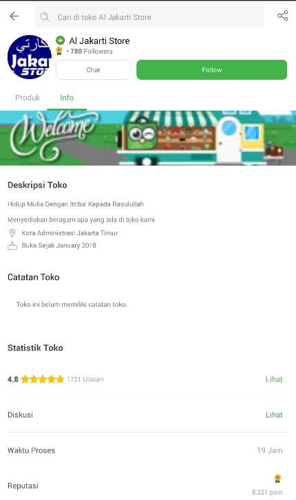 Profile Toko Baju Muslim Al Jakarti Store di Tokopedia.