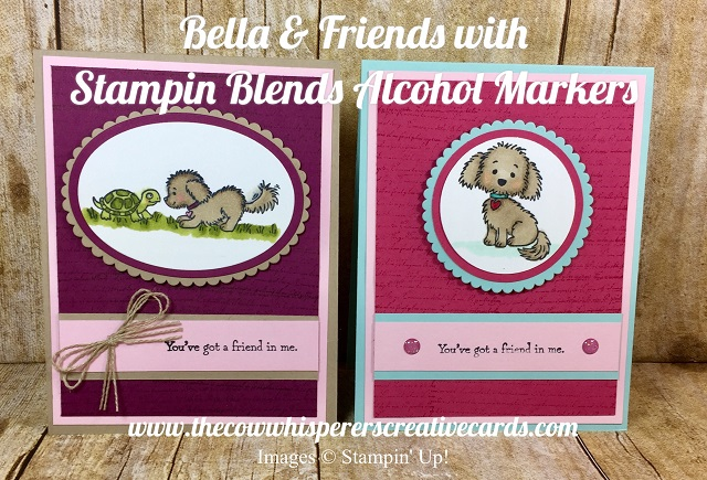 Card, Bella & Friends, Stampin Blends