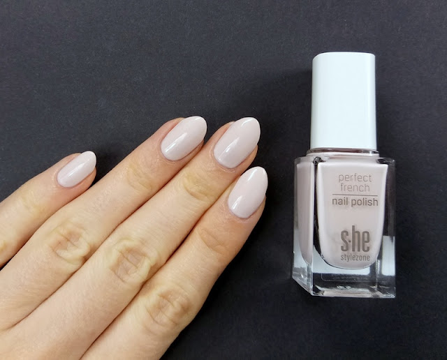 s.he perfect french nail polish 003 nude pastel nails mani