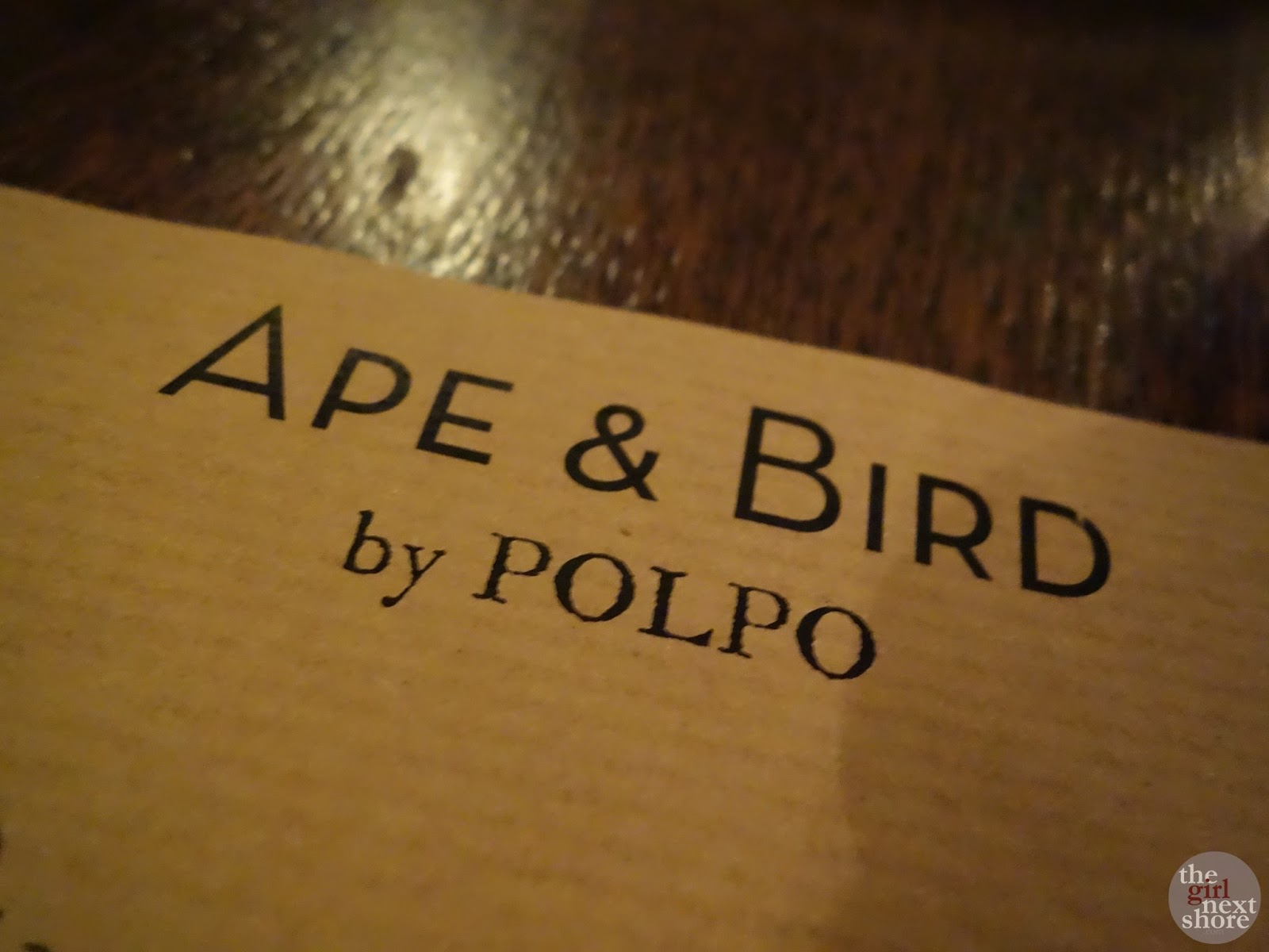 The Ape and Bird: where you get what it says on the tin