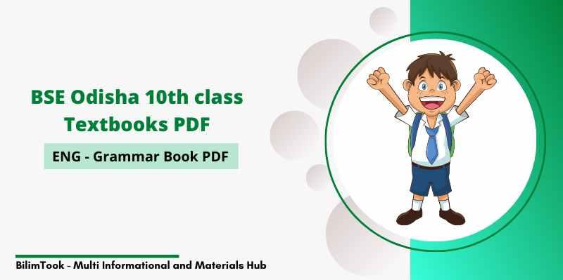 BSE Odisha 10th class English Grammar Book PDF Download
