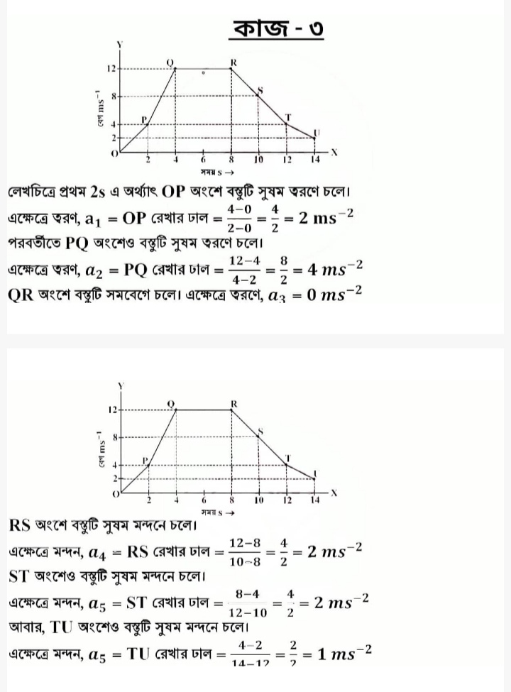 Class 9 13th Week Physics Subject Assignment Answer