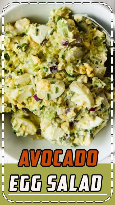 This avocado egg salad takes your classic egg salad recipe and adds healthy avocado