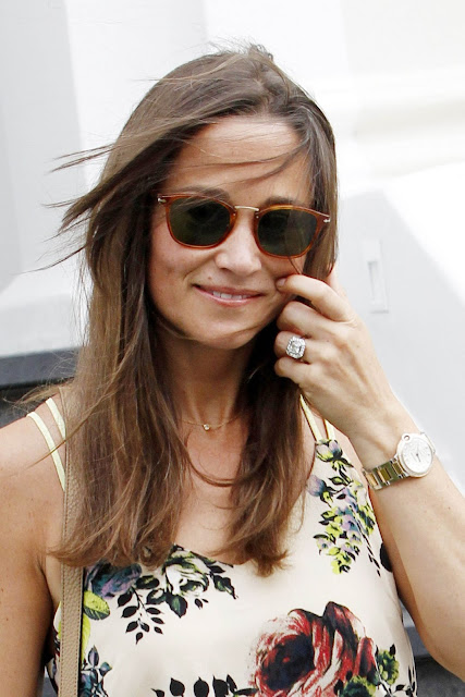 Newly Engaged Pippa Middleton and Miranda Kerr are the Latest Celebrities Opting for Platinum Engagement Rings