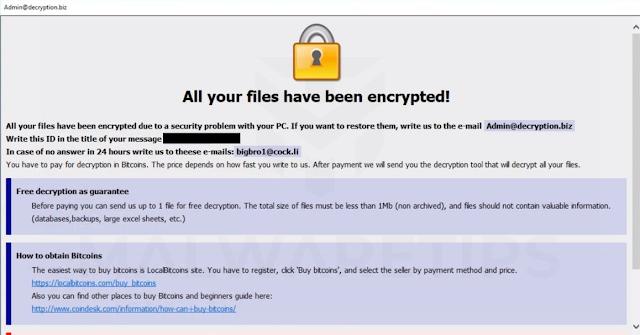 Admin@decryption.biz Bkpx (Ransomware)