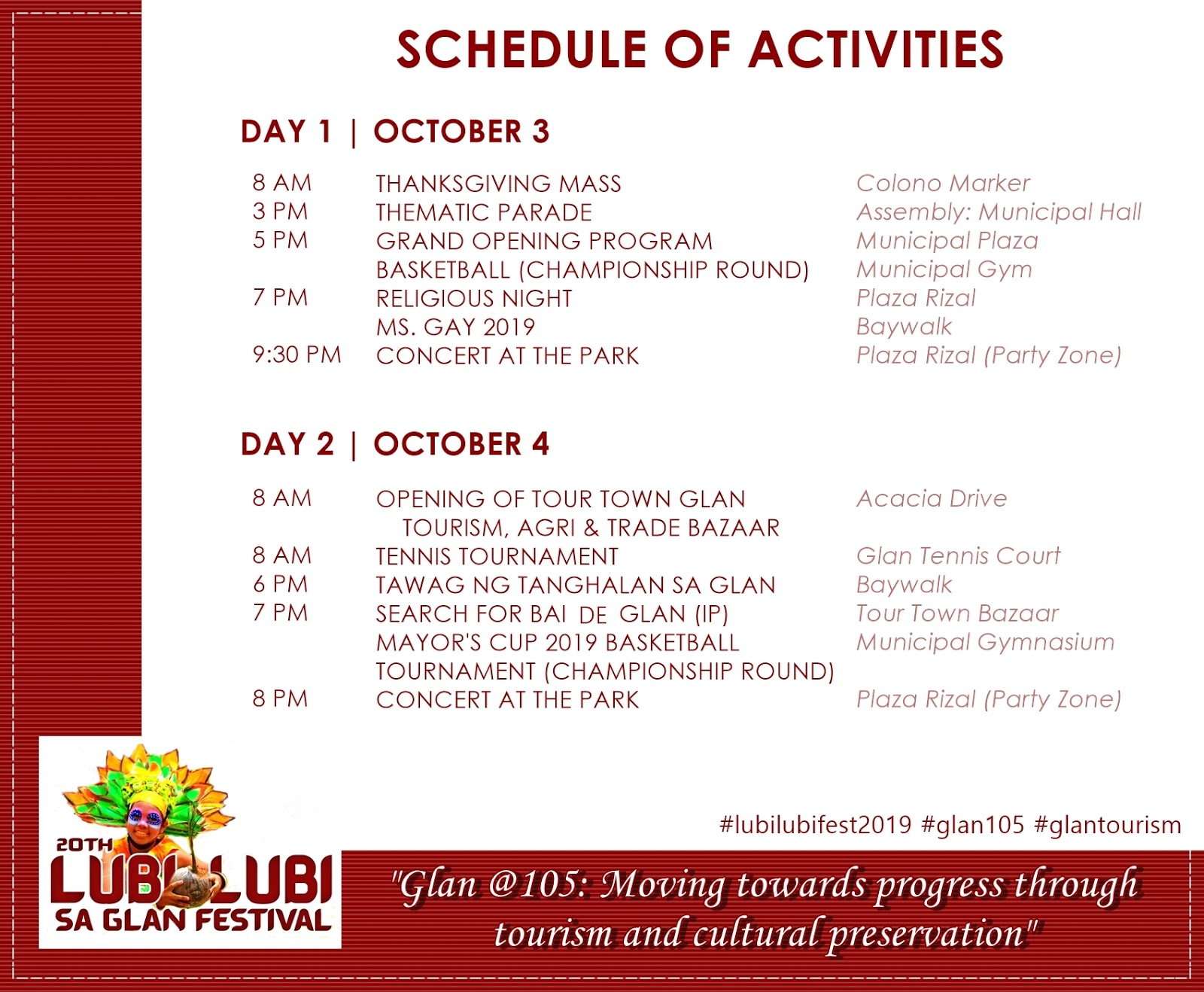 We're going to Lubi-lubi sa Glan Festival this October!