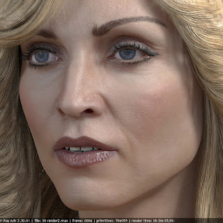 Madonna singer head photorealistic female 3D model