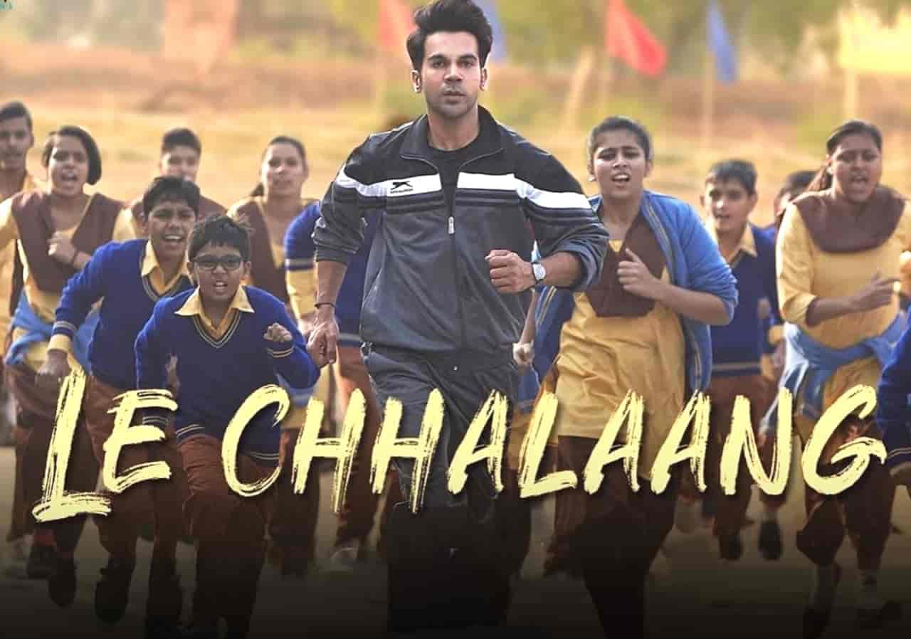 Le Chhalaang Song Image Features Rajkumar Rao From Movie Chhalaang