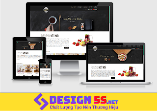Template blogspot bán coffee, cafe