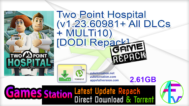 Two Point Hospital (v1.23.60981+ All DLCs + MULTi10) – [DODI Repack]