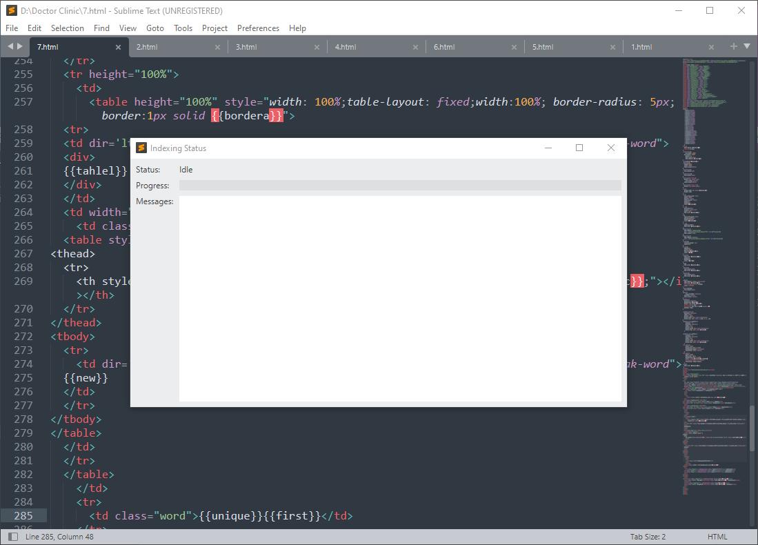 Sublime Text 4 (Build 4107)