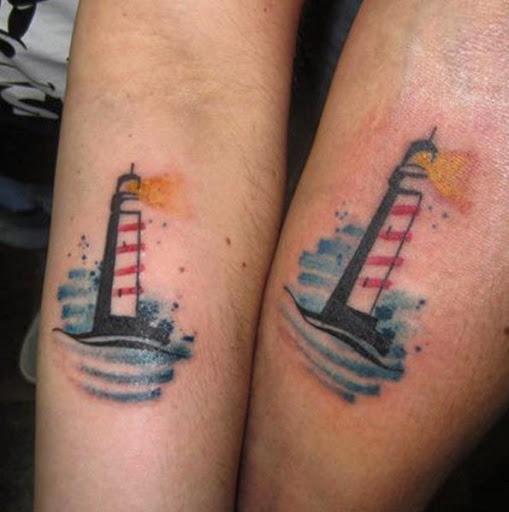 Estes correspondência farol tatuagens