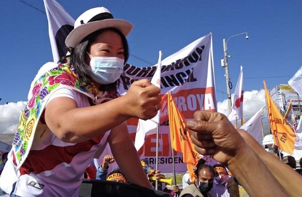 Keiko Fujimori descarta buscar a Vladimir Cerrón durante visita a Junín