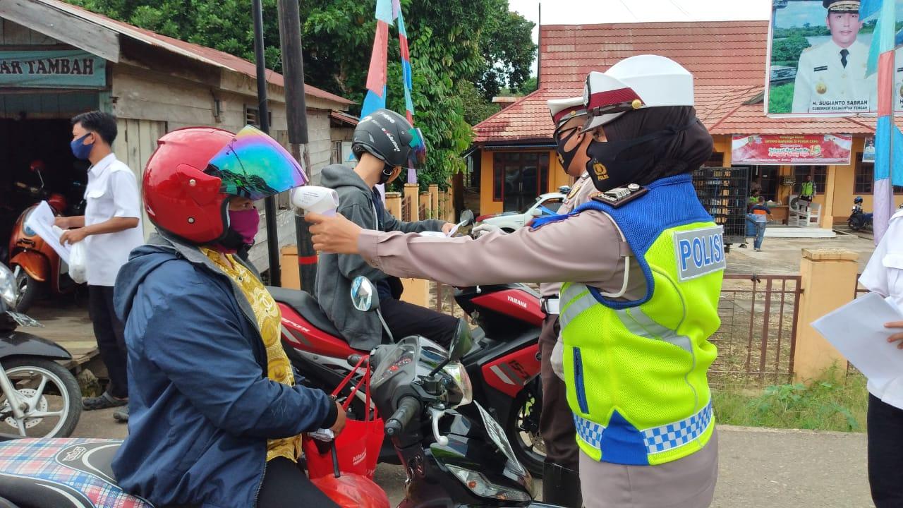 Operasi Patuh Telabang 2020 Satlantas Polres Mura Wajibkan Pengendara Pakai Masker