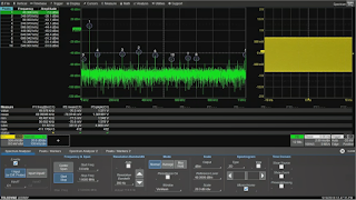The highest frequency in the spectrum analysis will impact the oscilloscope's sampling rate