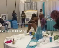 Baby shower drama! They hired a STR!PP£R for this LADY's baby shower - VIDEO