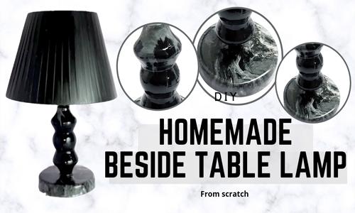 DIY Lamp Table | Easy Homemade Decor | Cement and Acrylic paint