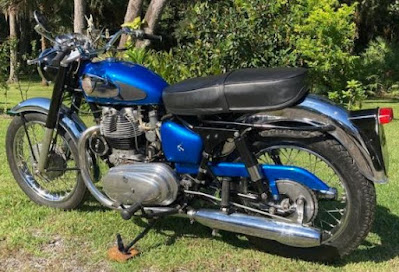 Left side of 1964 Royal Enfield Interceptor.