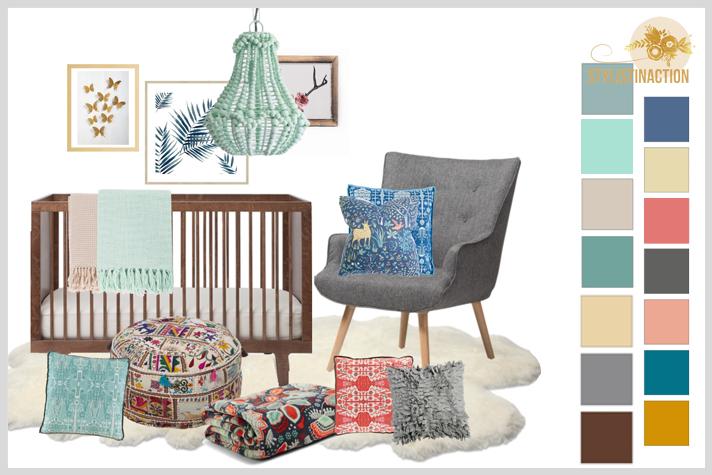 Ideas para cuartos de bebes no tradicionales. Estilo Boho para un cuarto de mujer