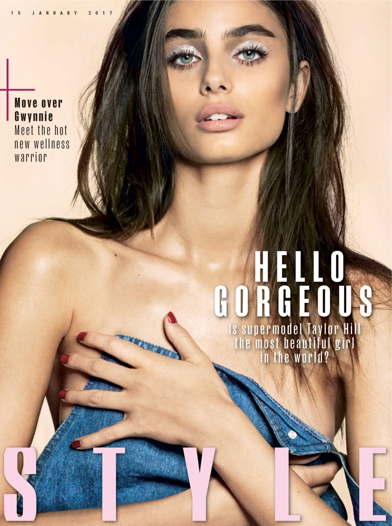 Taylor Hill on Sunday Times Style January 15, 2017 Cover by Donna Trope
