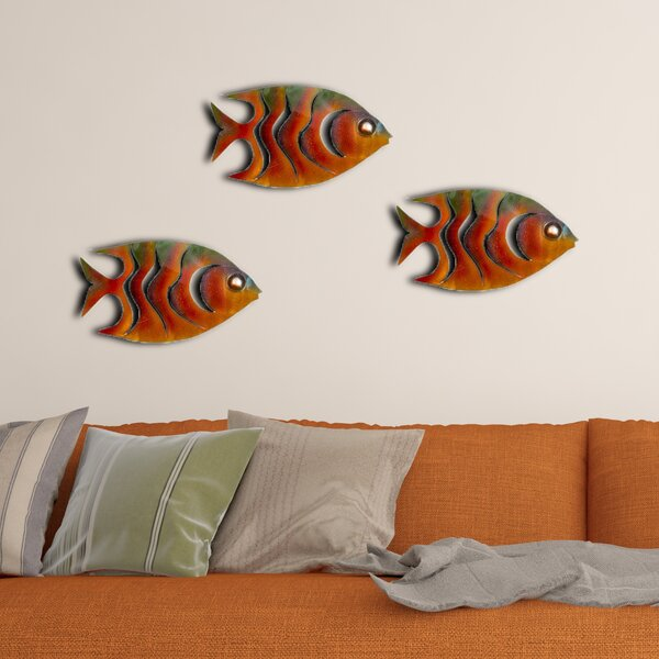 3 Piece Angel Fish Wall Decor Set