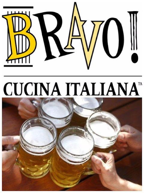 Bravo Cucina Italiana Restaurant National Beer Day Giveaway ~ Win a $25 Bravo Gift Card