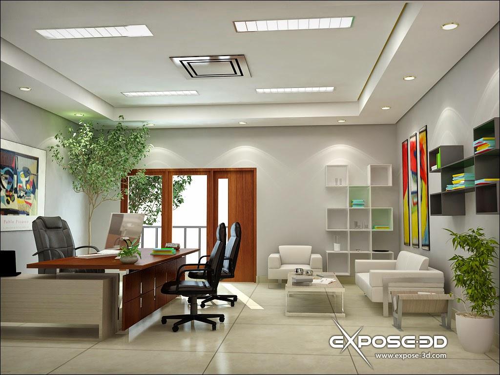 Contoh Sketsa Gambar Tata Ruang Kantor Terbuka 2021