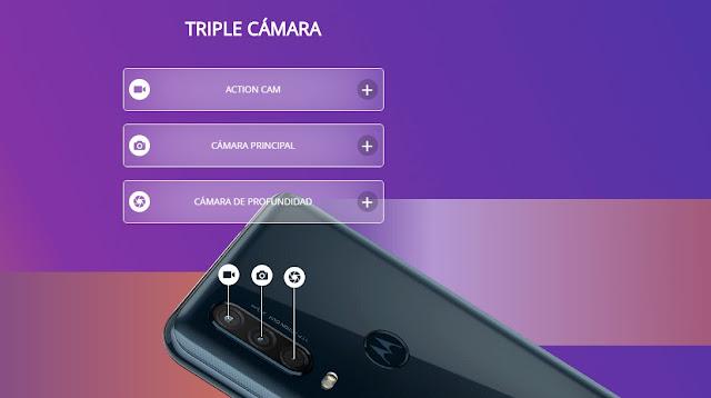 Motorola One Action viene con triple cámara